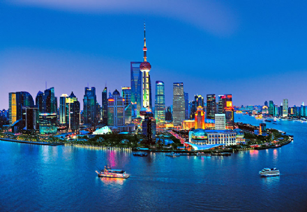 China Shanghai skyline wall mural